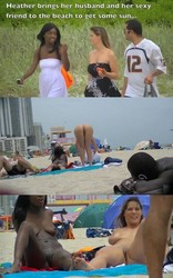 8689q8e7ijl0 Exhibitionist Wife #97  Heather Takes Her Hubby & Her Girlfriend To The Nude Beach!